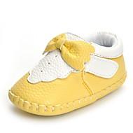 Baby Platte schoenen Comfortabel Kunstleer Lente Herfst Bruiloft Causaal Formeel Feesten & Uitgaan Strik Magic tape Platte hak Geel Roze