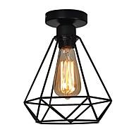 Vintage 1-světla černá kovová klec podkroví stropní svítidlo flush mount jídelna kuchyňská svítidla