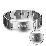 New men's bracelet stainless steel face can be engraved European and American fashion bracelet BA101587