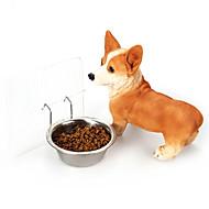 Hund Schalen & Wasser Flaschen Haustiere Schüsseln & Feeding Tragbar Silber Edelstahl