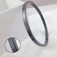 Smooth plate titanium bracelet bracelet four-color free with Korea selling models