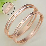 Titanium bracelet CNC diamond diamond bracelet lovers Korean pop jewelry gift for Valentine's Day