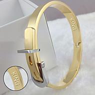 Gold Titanium jewelry adjustable size belt buckle bracelet Korea fashion accessories
