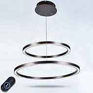 Dimmable נברשת הוביל תאורה מקורה תקרה מודרנית תליון אורות נברשות גופי תאורה עם שלט רחוק