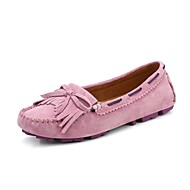 Dame Båtsko Gange Komfort Lysende sko Syntetisk Vår Sommer Høst Avslappet Kombinasjon Flat hæl Gul Blå Rosa Flat