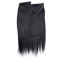 20 tuuman suora remy hiukset näkymätön lanka hiukset laajennukset yksi pala 80g