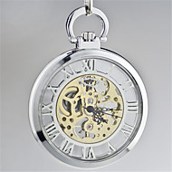 Men's Pocket Watch Automatic self-winding Water Resistant / Water Proof Alloy Band Black Silver
