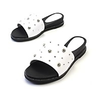 Women's Slippers & Flip-Flops Comfort Slingback Mary Jane Flower Girl Shoes Light Soles Spring Summer Leather Nappa Leather Walking Shoes