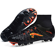 Soccer Shoes Men's Athletic Shoes Comfort Leather Tulle Spring Fall Athletic  Lace-up Low Heel Royal Blue Green Black Flat