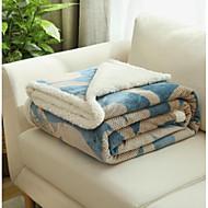 Flanell Blomster Polyester/ Bomullsblanding tepper