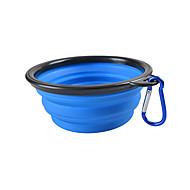 Katze Hund Schalen & Wasser Flaschen Haustiere Schüsseln & Füttern Tragbar Klappbar Gelb Rot Grün Blau Rosa
