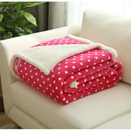 Flannel Geometric Polyester Cotton Blend Blankets