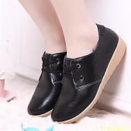 Naiset Kengät Nahka Kevät Kesä Comfort Oxford-kengät Käyttötarkoitus Kausaliteetti Musta Keltainen Punainen