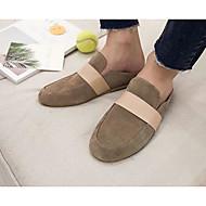 Masculino sapatos Couro de Porco Primavera Verão Solados com Luzes Tamancos e Mules Para Casual Preto Khaki
