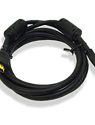 6-Foot Gold-Plated HDMI Cable Male to Male 28AWG with Ferrite Core(MONO001)