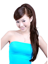 Synthetic Hairpiece - Extra Long Brown Straight Ponytail