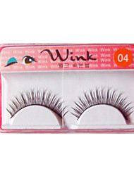 Natural Looking Eyelashes #04# - 10 Pairs of Long and Curved Lashes