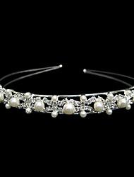 cristais lindo e imitação de noiva casamento pérolas tiara / headpiece / headband