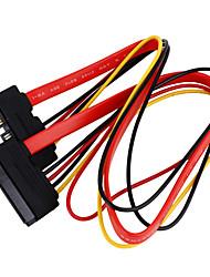 sata 7 +15 p dados + cabo de extensão de energia (0,5 m)