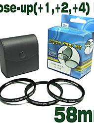 emolux 58mm (+1, +2, +4) kit close-up filter (smq5563)