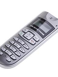VoIP USB LCD интернет-телефон для Skype с настенным креплением