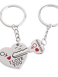 Chaveiro Amantes (Corações / 2 Peças)