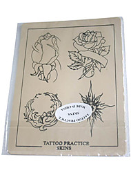 Tattoo Practice Skin with Floral Outlines