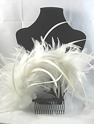 Women's Flower Girl's Feather Alloy Headpiece-Wedding Special Occasion Casual Outdoor Hair Combs