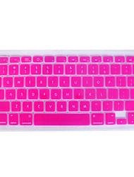 silicio cubierta del teclado QWERTY para mac libro (rosa)