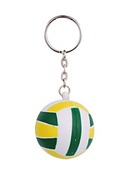 Green Color Ball Style Keychain with Soft Plastic Material