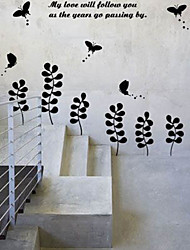 Adhesive Flower Wall Sticker (0940-WS32)