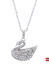 Лебедь форме кристалла USB2.0 флэш-диск ожерелье (256)
