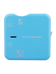 High-Speed 43-in-1 USB 2.0 Card Reader(Blue)