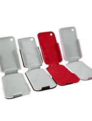 Housse en cuir pour iPhone 3G/3GS - style flip (4 couleurs par paquet) (czah076)
