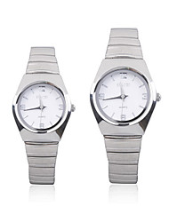 Trendy Stainless Steel Watch for Couple