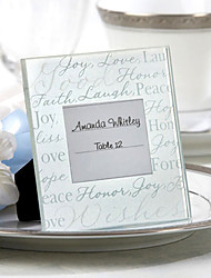 Good Wishes Glass Frame Place Card Holder