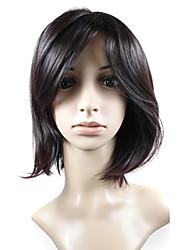Capless Medium High Quality Synthetic Natural Look Auburn Straight Hair Wig