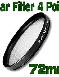 Emolux 72mm Star 4 Point Filter(SQM6022)