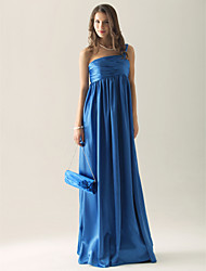 Floor-length Charmeuse Bridesmaid Dress - Royal Blue Plus Sizes / Petite Sheath/Column One Shoulder