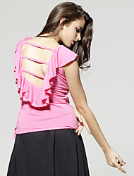 ts backless ruffle blusa camisa