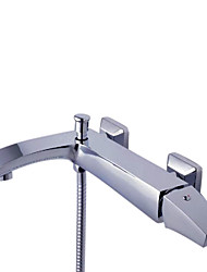 Grifo de bañera / Grifo de ducha - Contemporáneo Latón (Cromo)
