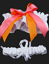2-Piece Satin With Colourful Bowknot Wedding Garters