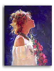 Hand-painted People Oil Painting with Stretched Frame