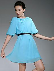Clearance!Chiffon Sheath/ Column Jewel Short/Mini Evening Dress
