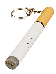 3-in-1 Cigarette Shaped White LED Flashlight + Red Laser + Black Ball Pen Keychain (3*LR41)