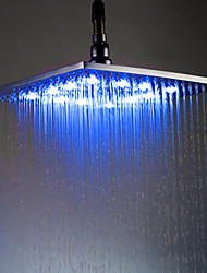 8 polegadas chuveiro de bronze com a luz muda de cor levou