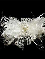 Women's Satin/Imitation Pearl Headpiece - Wedding/Special Occasion Flowers