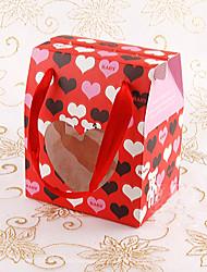 Sweet Heart Ribbon Handle Gift Bag (Set of 12)