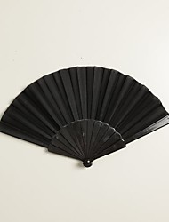 Black Silk Hand Fans (set of 6)