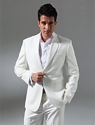 Custom Made Single Breasted Two-button Notch Lapel Center-vented Linen and Cotton Men's Suit